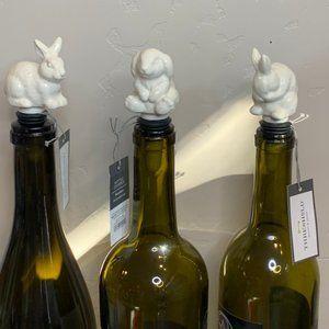 Threshold Stoneware Bunny Bottle Stopper set of 3
